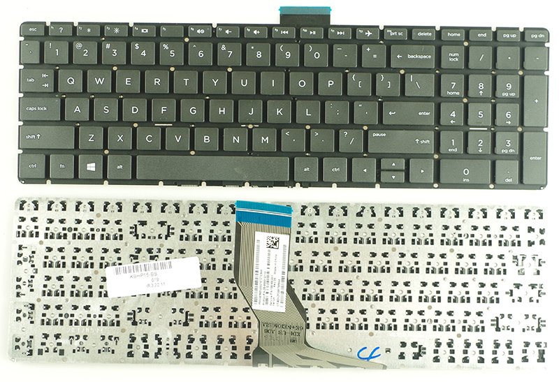 SSEA New US <font><b>Keyboard</b></font> for <font><b>HP</b></font> <font><b>250</b></font> <font><b>G6</b></font> 255 <font><b>G6</b></font> 15-BS 15T-BS 15-BW 15Z-BW <font><b>Keyboard</b></font> Black NO Backlit image