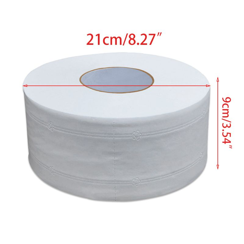 Thicken 4-Ply Large Toilet Roll Paper Embossed No Fluorescent Jumbo Bath Tissue