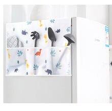 1 pçs geladeira capa à prova de poeira saco pendurado kitchenstorage gama capa velo impermeável lazer durável conveniência prática