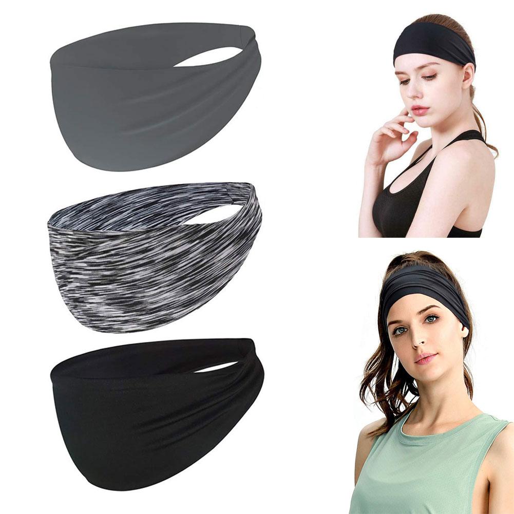 Комплект из 3 предметов, повязка на голову, впитывает пот и влагу резинки для волос спортивная повязка прекрасно впитывают влагу, впитывающи...