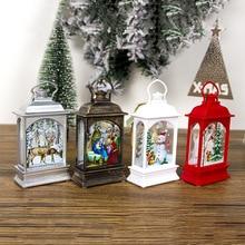 Christmas Hanging Lamp Santa Claus Deer Snowman Light Home Garden Decoration TT-best