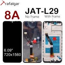 Huawei onur için 8A LCD ekran 8A Pro JAT L09 L29 L41 LX1 dokunmatik ekran onur 8A çerçeve ile ekran yedek parçalar