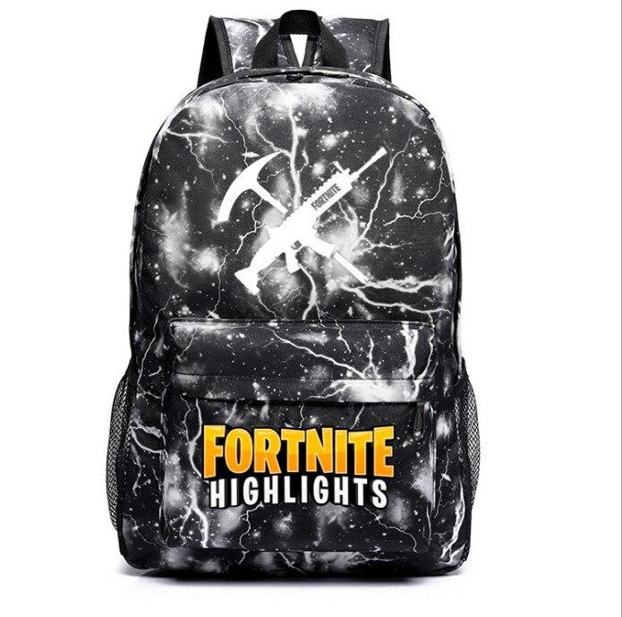 Custom Fortnite Game Mobilefortress Night Luminous School Bag Men And Women Backpack Teenager Campus Backpack