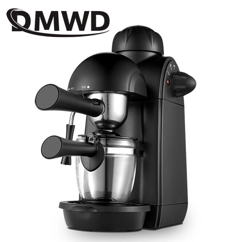 DMWD высокое давление пара причудливая итальянская кофемашина Mocha латте молочный пенообразователь пузырьковый Капучино Эспрессо кофеварка ...