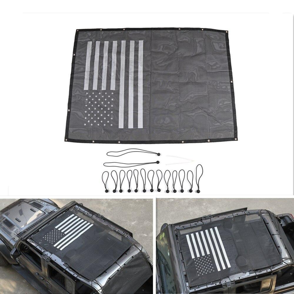 Voiture 4 portes pare-soleil éclipse couverture supérieure étoile toit maille fournit Protection UV accessoires Auto pour Jeep Wrangler JL 2018 +