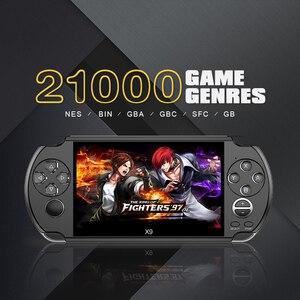 Игровая приставка 5,0 дюймов с большим экраном, портативный игровой плеер, поддержка ТВ-выхода, с MP3/кинокамерой, мультимедиа, видео, геймер