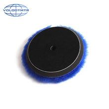 Almofada de polimento de lã de volodymyr 6 polegada azul com 5 polegada gancho e laço para polimento polonês carro polidor buffer accessoriestools
