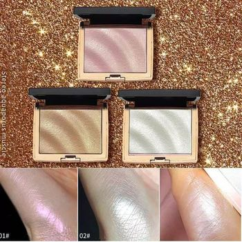 2020 Glitter Highlighter Holographic Makeup Palette Shimmer Bronzer Highlight Eyeshadow Cosmetics Illuminator