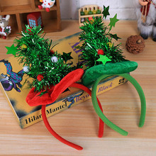 Christmas Hair Accessories Items Headband Hat Five-star Day Party