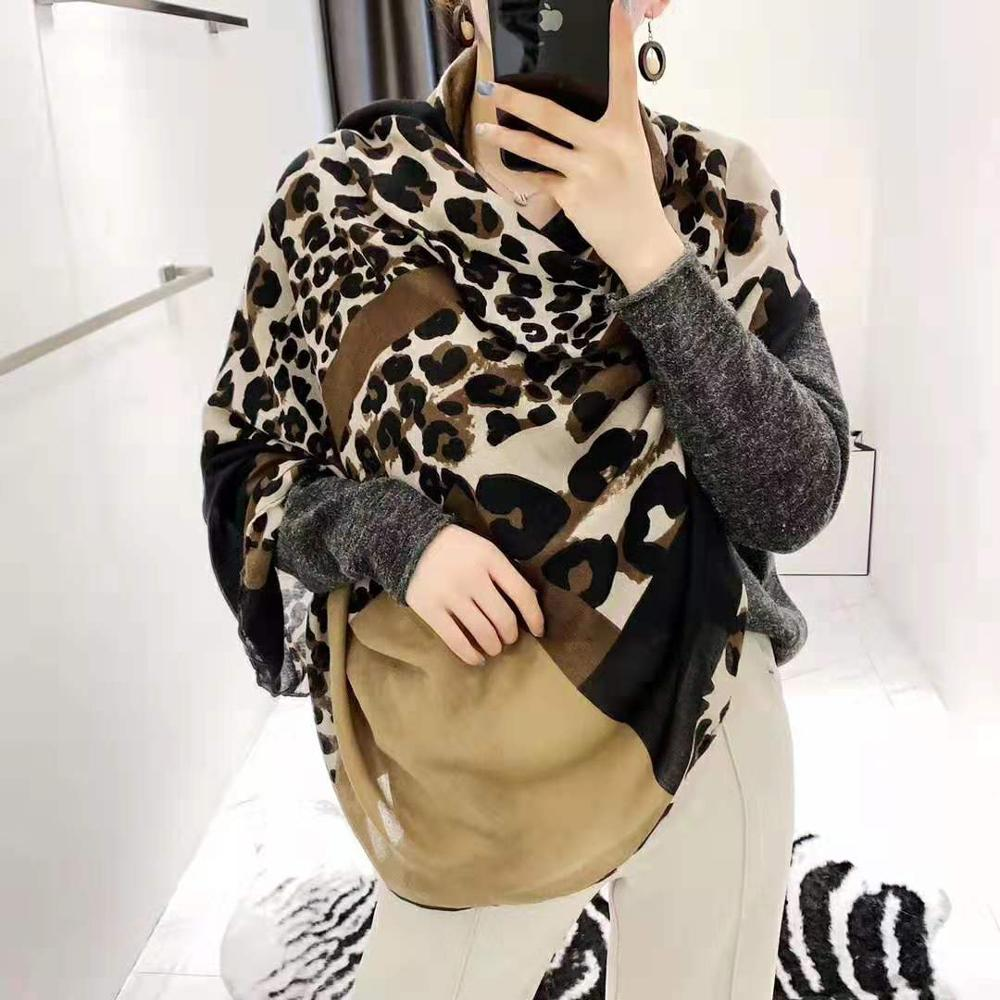 2019 New Fashion Leopard Print Scarves Shawls Beautiful Long Women Leopard Hijab Wrap Scarf 6 Color 10pcs/LOT Wholesale