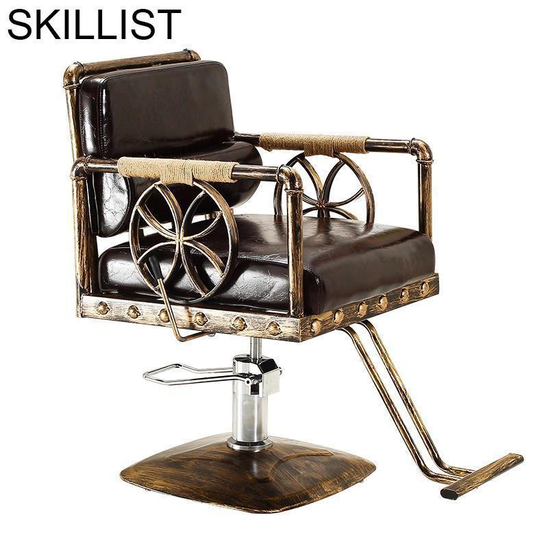 Schoonheidssalon Beauty Sedie Stoelen Hair Salon Fauteuil Hairdresser De Barbeiro Cadeira Silla Shop Barbearia Barber Chair