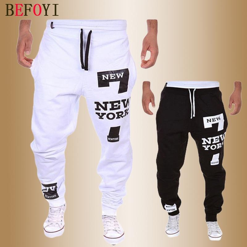 Mens Joggers Pants Casual Fashions Sweatpants Men Letter Streetwear Pantalones Hombre Cotton Sweat Male Stretch Long Trousers