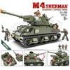 World war United States M4 Sherman legends capital Tank mega block ww2 1:36 scale army action figures building bricks toys