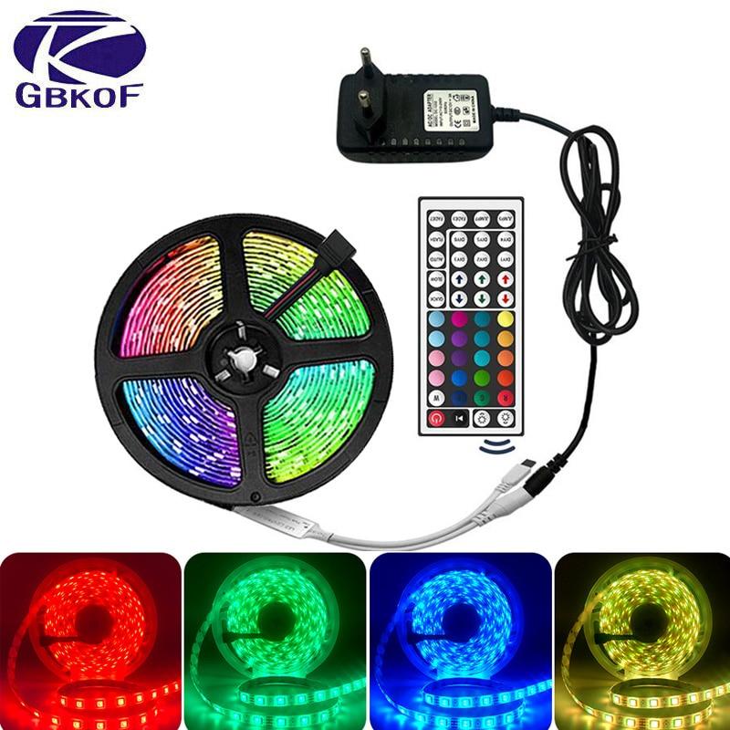 15M 10M LED Strip Lights 3528 RGB TV Back Lighting DC 12V Remote Control Adapter