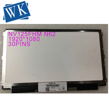 """Free Shipping NV125FHM-N62 12.5"""" 1920*1080 Laptop LED LCD Display for DELL 01G17W 1G17W LCD Screen Panel"""