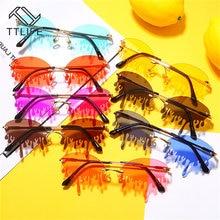 Модные солнцезащитные очки без оправы женские новые винтажные