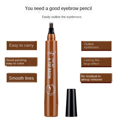 MB Natural Eyebrow Four-Headed Pencil Waterproof 5-Colors Pencil Brown Gray Anti-sweat Eye Brow Makeup Tools 5