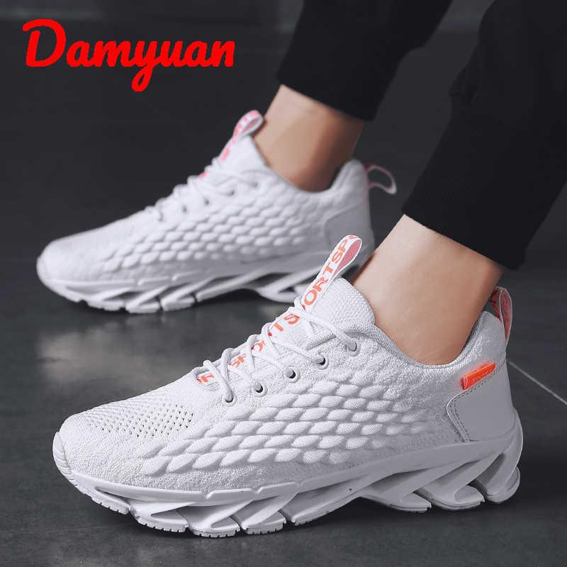 Damyuan 2019 kış yeni bıçak erkek sıcak ve rahat erkek ayakkabı açık yürüyüş nefes koşu ayakkabıları büyük boy 45