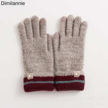 touch-screen ShengQi new ladies knitting five fingers students winter gloves manufacturers selling leisure industry