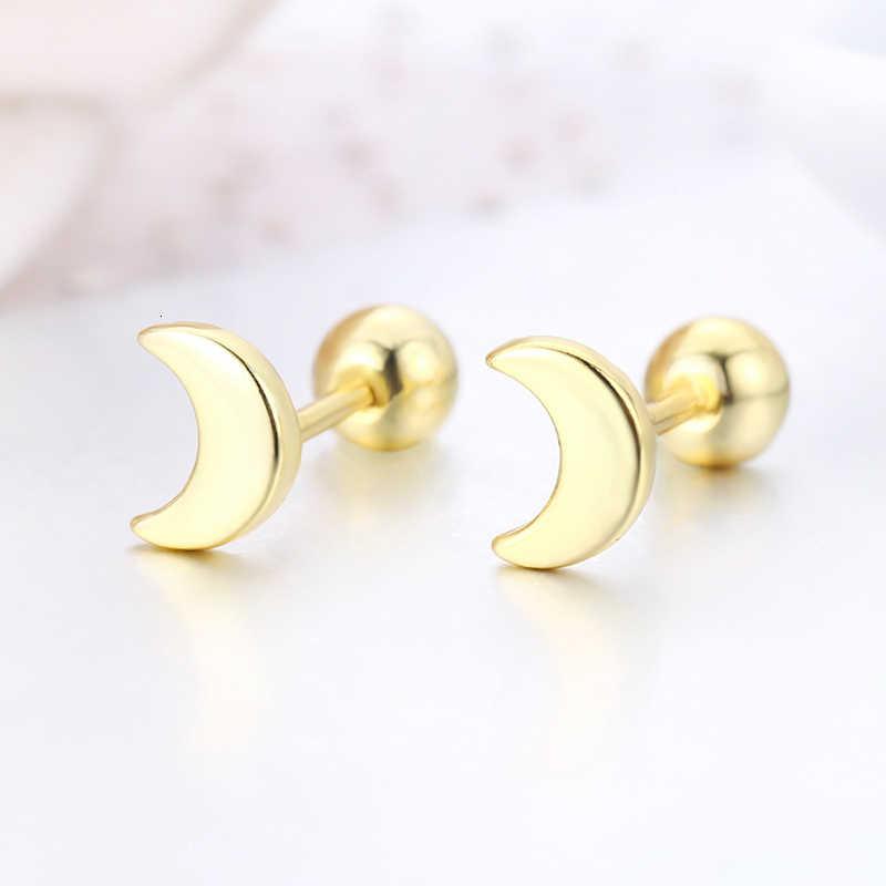 Śliczne małe półksiężyc księżyc w nowiu śruba powrót stadniny kolczyki dla kobiety, dzieci, dziewczyny, złoty kolor Piercing biżuteria Oorbellen Aros Orecchini
