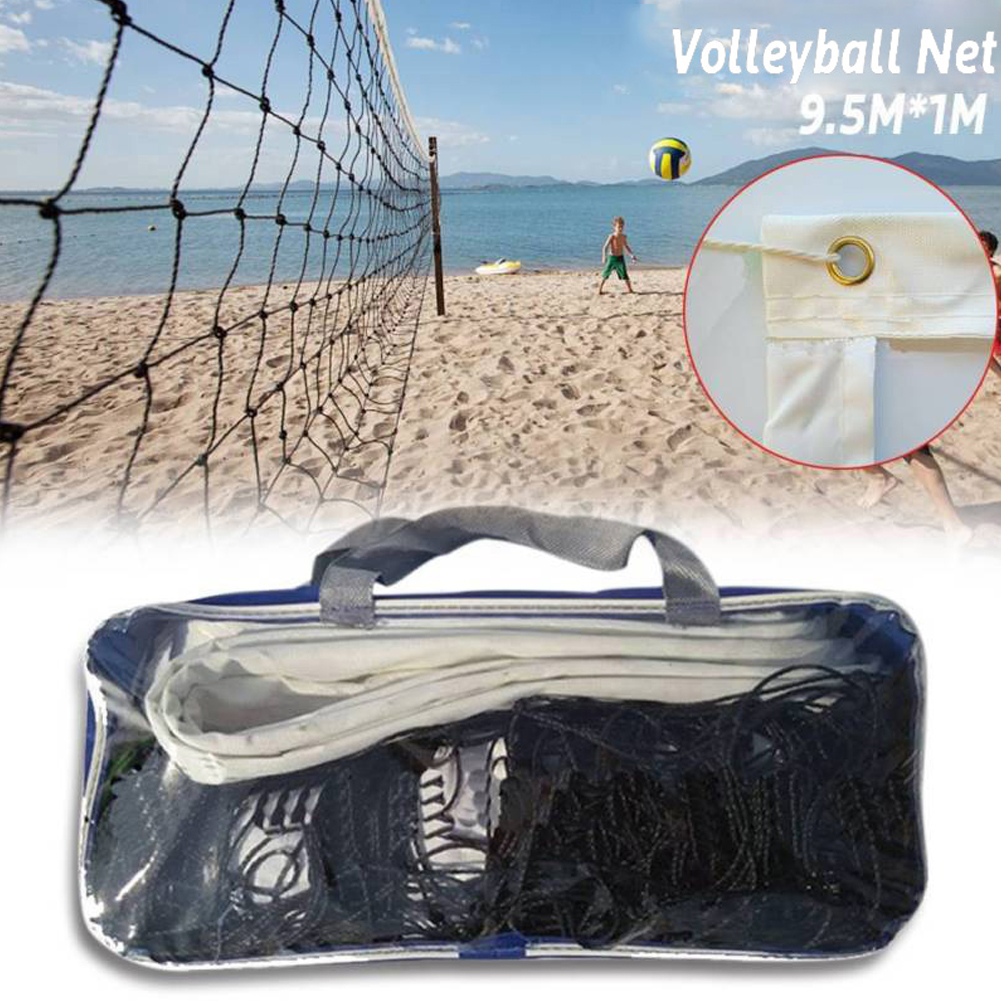9.5x1m Professional Sport Training Standard Badminton Net Outdoor Tennis Net Mesh Volleyball Net Exercise Drop Shipping