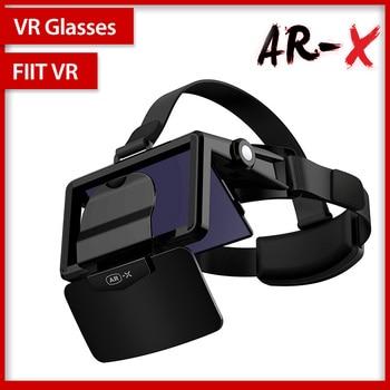 цена на FIIT AR-X AR Smart Glasses Enhanced 3D VR Glasses Box Headphones Virtual Reality Helmet VR Headset For 4.7-6.3 inch Smartphone