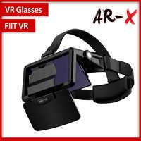 Fiit vr AR-X óculos capacete 3d vr óculos realidade virtual fone de ouvido para smartphone papelão casque telefone inteligente android 3 d lense