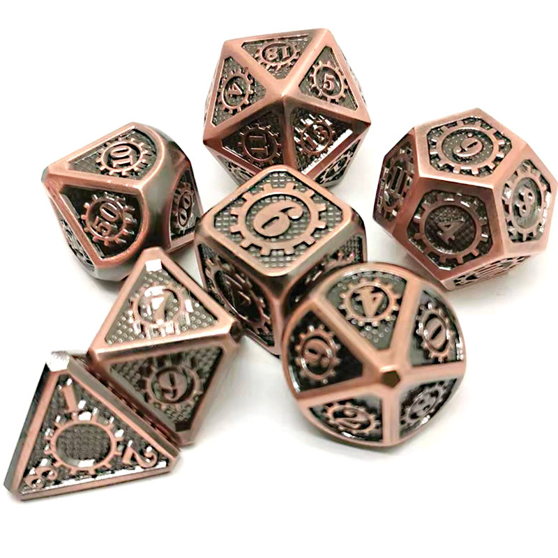 Metal Dice Set -Polyhedral Dice Set With Dice - Metal DND Dice And Gaming Dice For And RPG Games Metal Dice D4 D6 D8 D10 D12 D20