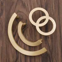 Solid Brass Circle Handles for Furniture Cabinet Pulls Drawer Cupboard Kitchen Handle Door Handle Gold Knobs Hardware