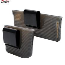 Car Storage Box Phone Charger Cradle Multifunction Door Side Hanging Pocket Organizer Garbage Mesh Card Phone holder Trash Bin