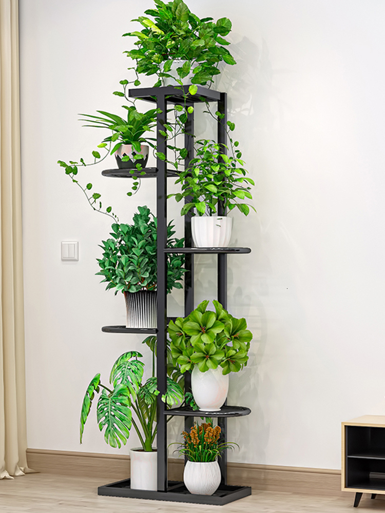 Europe Indoor Household Balcony Decorate Iron Art Of Shelf A Living Room Simplicity Flowerpot Multi-storey Pylons Green Luo