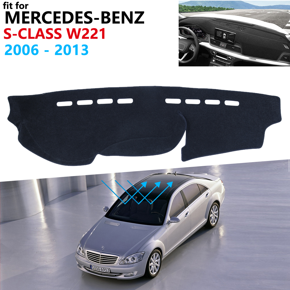 Dashboard Cover Protective Pad for <font><b>Mercedes</b></font> Benz S-Class W221 2006~2013 Car <font><b>Accessories</b></font> Carpet S-Klasse S300 S320 S400 <font><b>S500</b></font> S600 image