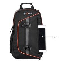 K & F CONCEPT حقيبة كاميرا DSLR الرقمية ، حقيبة ظهر للسفر ، حقيبة كتف ، مقاومة للماء ، مع مجموعة تنظيف العدسات