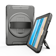 Case for ipad 9.7 inch 2018 2017 Kids Rugged Tablet Protective Cover with 360 Degree Rotating Kickstand & Hand Strap FTL01