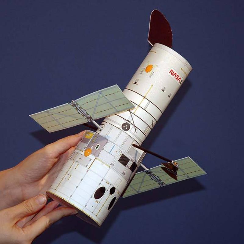 1:48 Hubble Space Telescope DIY 3D Paper Card Model Building Sets Construction Toys Educational Toys Science Model