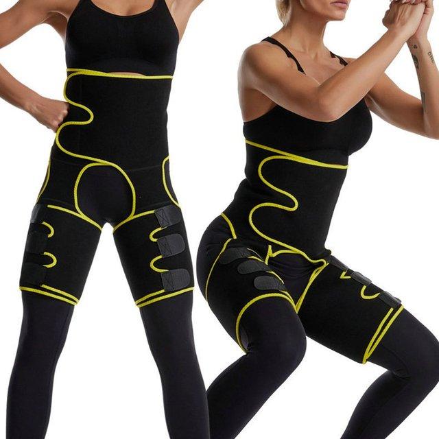 Waist Trainer Belt Slimming Body Shaper Belt Three-In-One Female Sweat Plastic Belt Sports Bodybuilding Adjustable Waist Belt 3