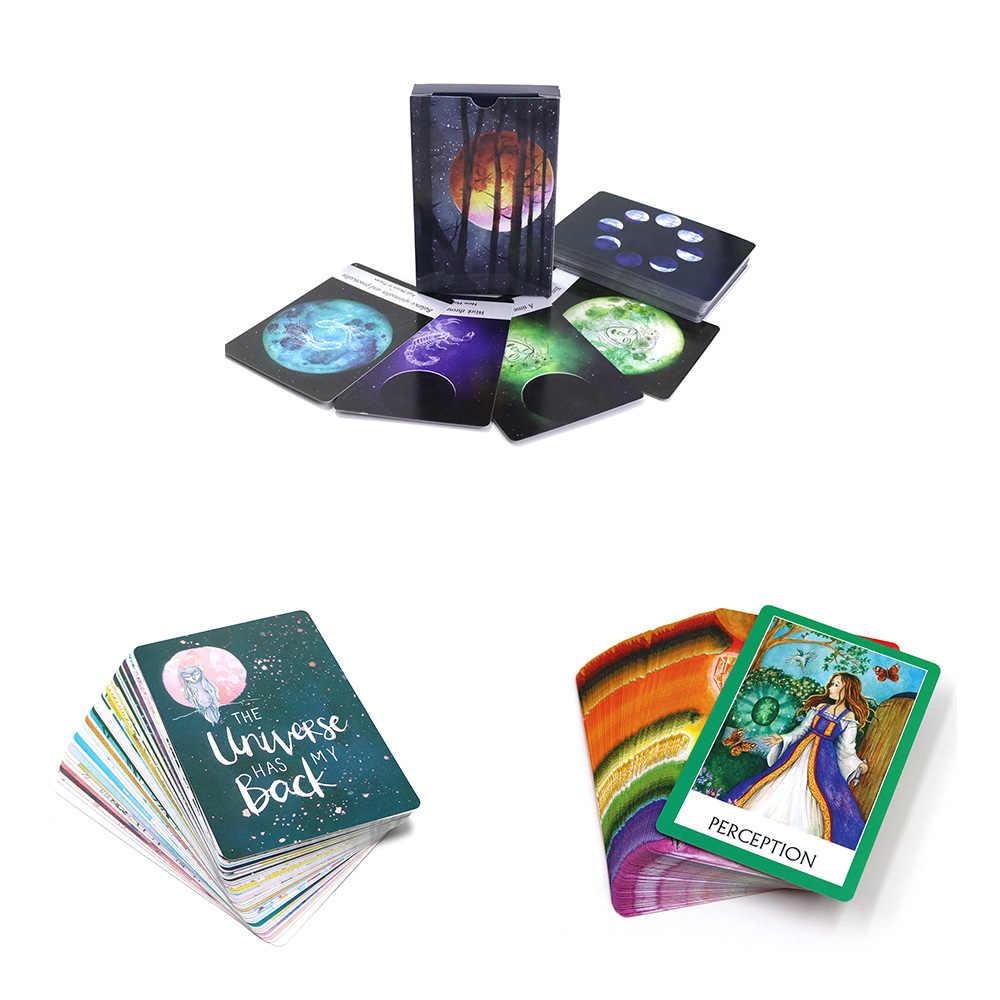 Oracle Kaarten Dek, Moonology, Universe, Meditatie Waarzeggerij Board Games Begeleiding Engels Mysterieuze Lezen Toekomst Tarot Kaarten