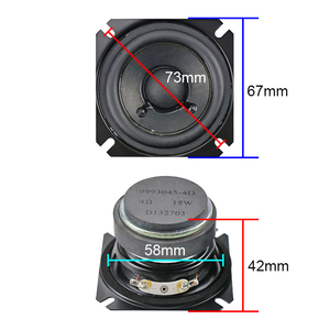 Image 3 - GHXAMP 2.5 inch 4OHM 15W Full Range Speaker Bass Portable Home Theater Desktop Speaker Paper Cone, Rubber edge Human Voice 2PCS