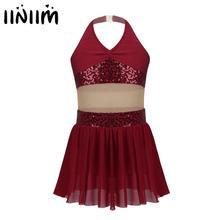 Costumes Skating-Dress Holographic Dancewear-Figure Ballroom Jazz Girls Kids Iefiel