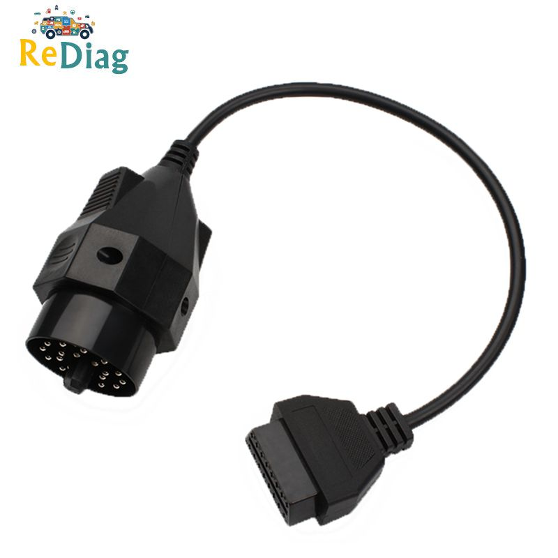 10PCS/LOT Car Diagnosis Cable Adapter for <font><b>BMW</b></font> <font><b>20</b></font> <font><b>Pin</b></font> Male Port to 16 <font><b>Pin</b></font> Connector Auto <font><b>OBD2</b></font> OBDII 20pin 16pin for ECU image