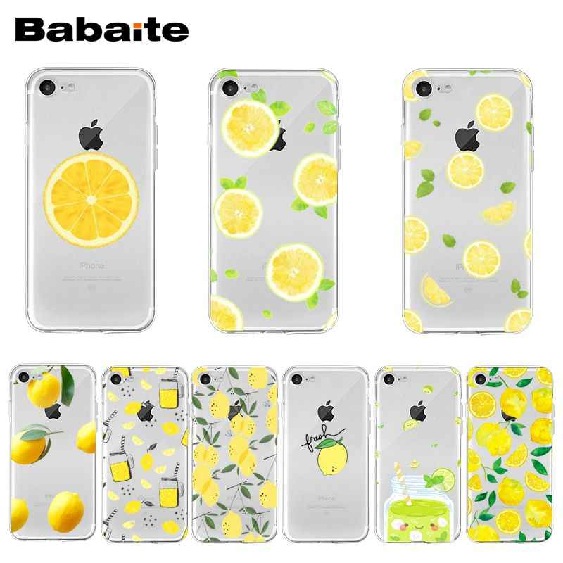 Babaite Citroen Fruit Transparant Cover Case Voor Iphone 11 Pro Xs Max Xr 8 7 6 6S Plus X 5 5S Se