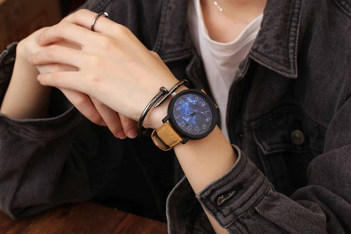 2019 venda quente moda relógios de pulso para senhoras meninas relógios femininos relógio de quartzo retro feminino grande dial novo