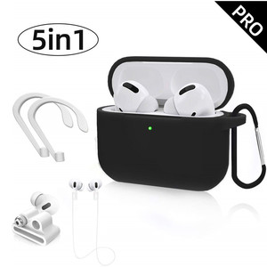 Image 1 - 5 In 1 Earphone Soft Silicone Case Cover for Apple Airpods Pro Air Pods 3 Airpodspro Bluetooth Wireless Headphone Earbuds Set