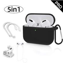 5 w 1 słuchawki miękki futerał silikonowy pokrywa dla Apple Airpods Pro Air Pods 3 Airpodspro słuchawki bezprzewodowe z Bluetooth douszny zestaw