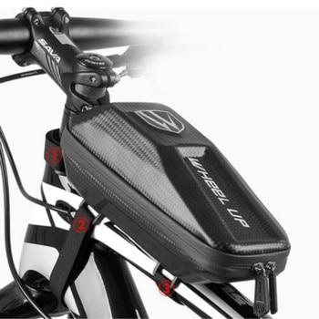Bicicleta ciclismo impermeable gran capacidad bicicleta dura bolsa marco bolsa teléfono móvil...