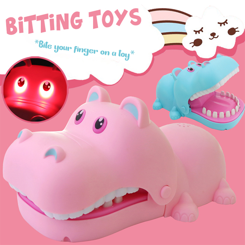 Bitting Toys Kwaii Hippo Bitting Kids Toys Educational Brinquedos Toys For Children Boys Toys Birthday Gift Toys For Boys 6 Year