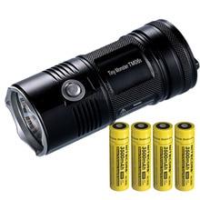 NITECORE TM06S SEARCH FLASHLIGHT CREE XML2 U3 LED 4000 LM Beam Distance 359M High Light Torch + 4x 18650 Batteries Free Shipping