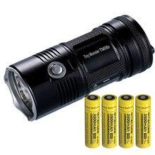 NITECORE linterna de búsqueda TM06S, CREE XML2 U3 LED, haz de 4000 LM, distancia de 359M, antorcha de luz alta + 4 baterías x 18650, Envío Gratis