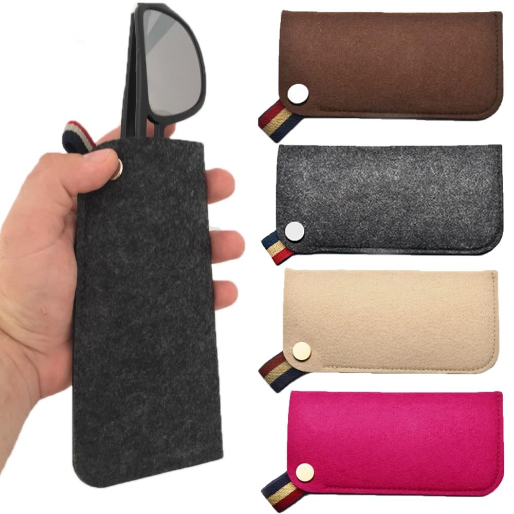 1PC New Felt Sunglasses Case For Women Colorful Candy Eyeglasses Box Soft Bag Accessoires Reading Glasses Carry Bag