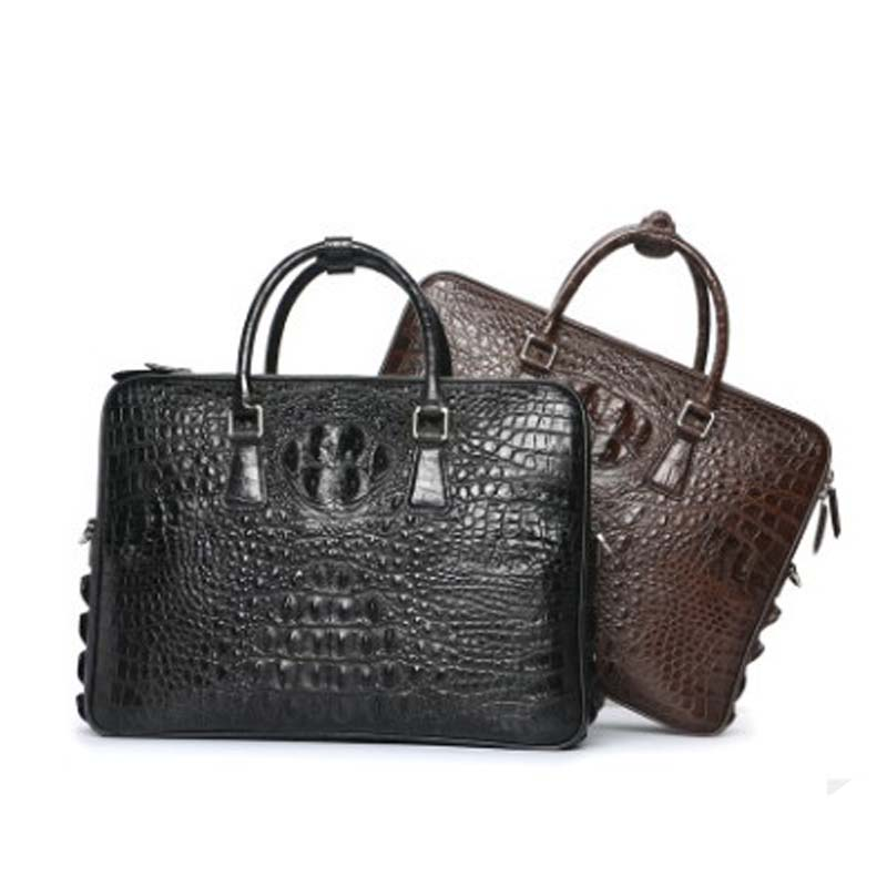 dongou crocodile  Men's bags  handbag  Genuine leather  male  Commercial package  Single shoulder bag  Genuine leather